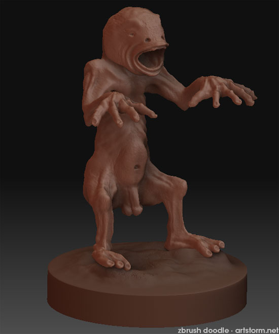 Chupacabra ZBrush doodle