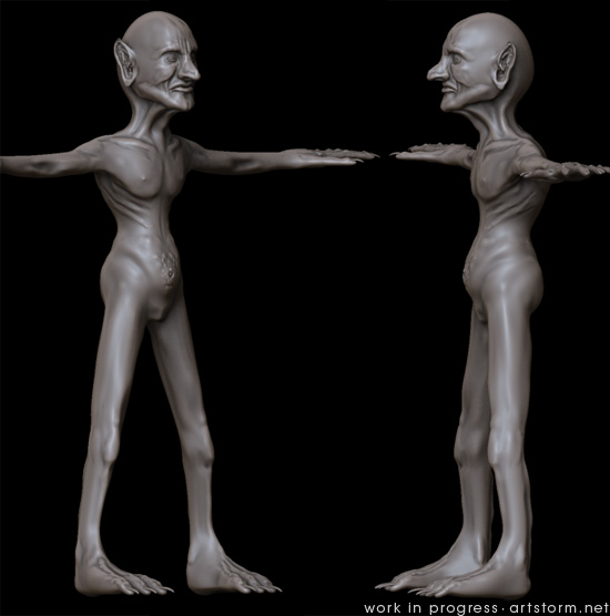 The old Goblin project with some ZBrush doodling