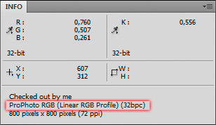 ICC Display in Photoshop Info Panel