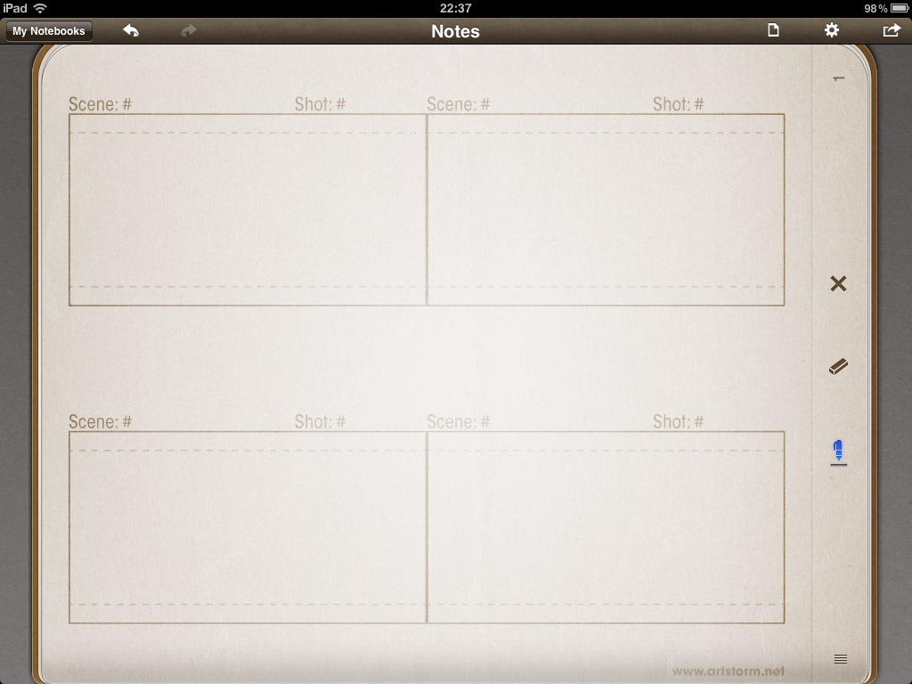 Storyboard Template Vertical Storyboard Template With 4