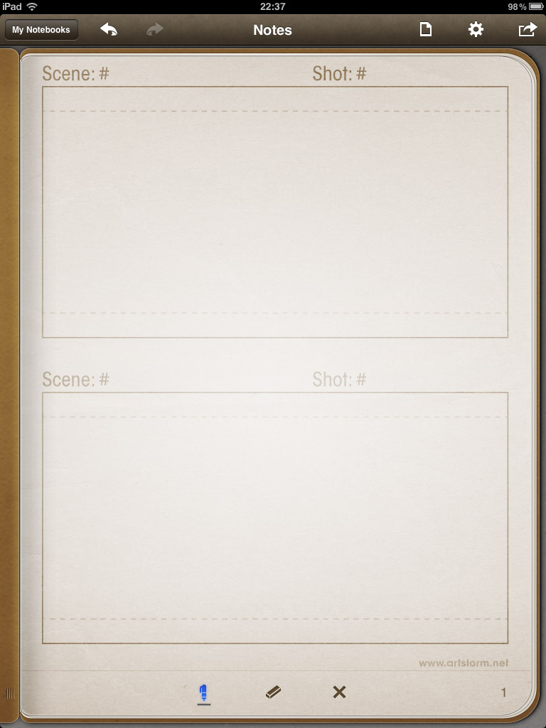 Storyboard Template Vertical Storyboard template with 2