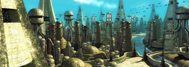 Futuristic City, CG science fiction environment