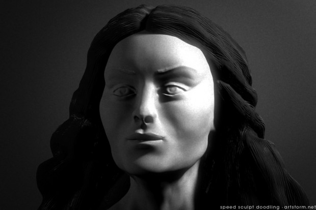 ZBrush Speed Sculpted Female Head