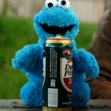 The Cookie Monster attended a Barbecue at my place