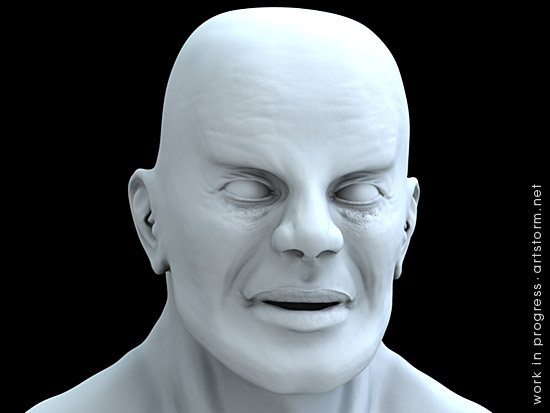 Male Speed Sculpt - Ambient Occlusion