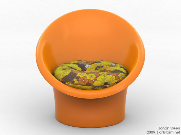 The Skopa Chair - Rendered from the front.
