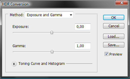 Default Settings in HDR Conversion