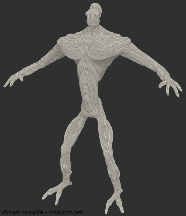 Doodling in the new ZSketch mode in ZBrush