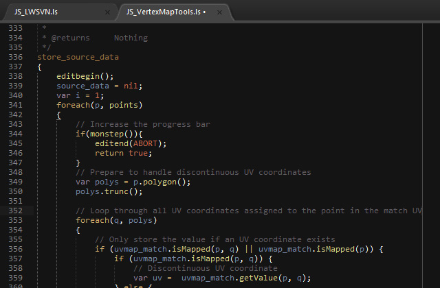 Screenshot of Sublime Text